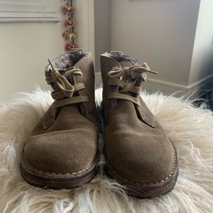Vince shearling lined chukka booties